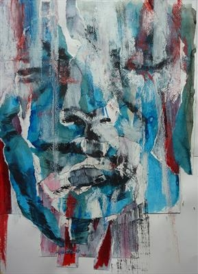 Prehension by Josh Bowe, Painting, Mixed Media on paper