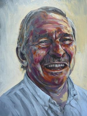 Professor David Nutt DM FRCP FRCPsych FMedSci - Initial Stu by Josh Bowe, Painting, Acrylic on paper
