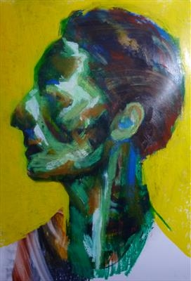 Rapt by Josh Bowe, Painting, Oil on Board