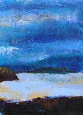 Scottish Island Storm Two by Josh Bowe, Painting, Oil on canvas