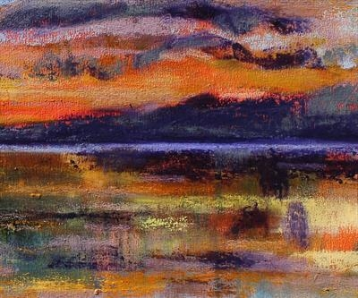 Scottish Sunset One by Josh Bowe, Painting, Oil on canvas