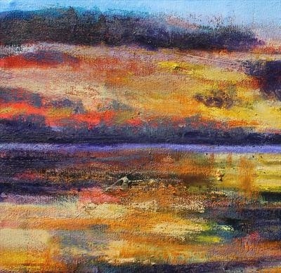 Scottish Sunset Two by Josh Bowe, Painting, Oil on canvas