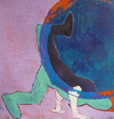 Smaller scale Choreography Study (9) by Josh Bowe, Painting, Acrylic on paper
