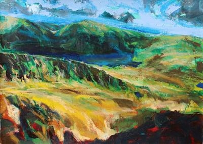 Snowdon One by Josh Bowe, Painting, Oil on canvas