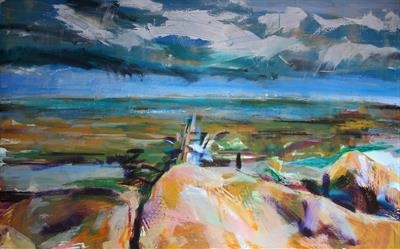 Whitby (Jetty) One by Josh Bowe, Painting, Mixed Media on Canvas