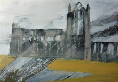 Whitby Abbey Eleven by Josh Bowe, Painting, Acrylic on paper