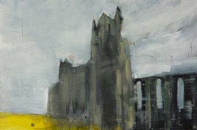 Whitby Abbey Five by Josh Bowe, Painting, Acrylic on paper