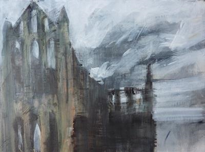Whitby Abbey Seven by Josh Bowe, Painting, Acrylic on paper