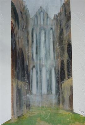 Whitby Abbey Six by Josh Bowe, Painting, Acrylic on paper