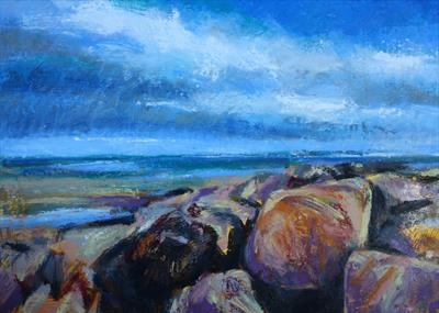 Whitby Shoreline by Josh Bowe, Painting, Oil on Linen